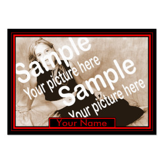 cartão vermelho e preto dos comp(s) cartão de visita grande