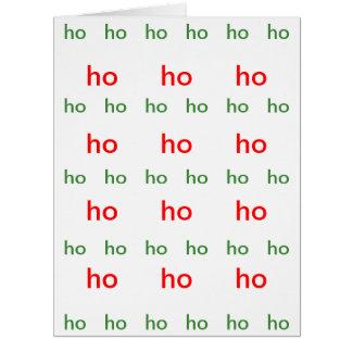 Cartão Vermelho-e-Verde de HO-HO-HO