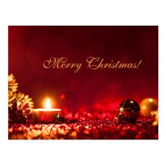 Cartão vermelho elegante de OrnamentGreeting da