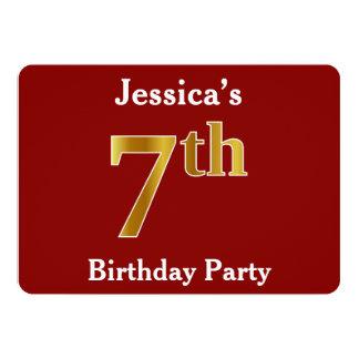 Cartão Vermelho, festa de aniversário do ouro do falso 7a