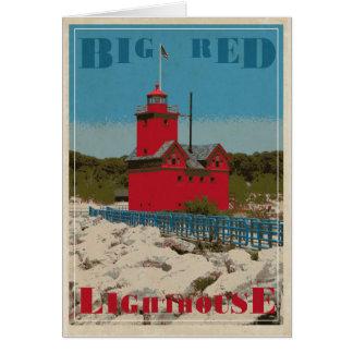Cartão Vermelho grande do cais