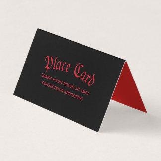 Cartão vermelho & preto gótico simples do lugar