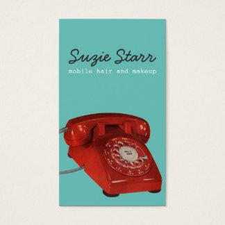 Cartão vermelho retro do negócio e da nomeação do