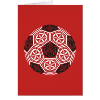Cartão vermelho sagrado da geometria do futebol