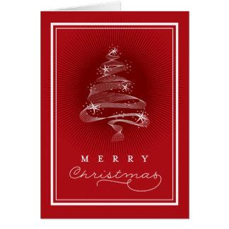 Cartão vermelho Sparkling do feriado do negócio da