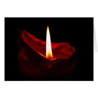 Cartão vermelho vazio da vela