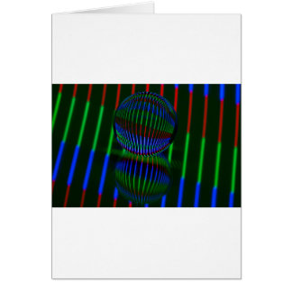 Cartão Vermelho, verde, azul na bola de cristal