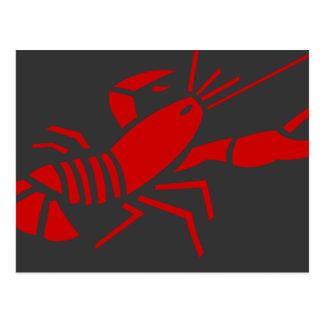 Cartão vermelhos da lagosta