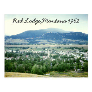 Cartão vermelhos de Montana do alojamento