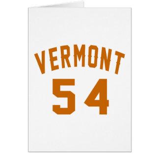 Cartão Vermont 54 designs do aniversário