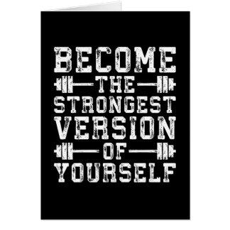 Cartão Versão tornada do The Strongest do senhor mesmo -