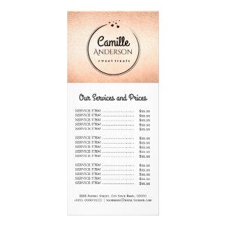 Cartão versátil da cremalheira da tabela de preços 10.16 x 22.86cm panfleto