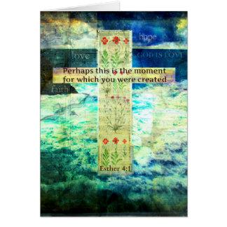 Cartão Verso inspirado Uplifting da bíblia sobre a vida