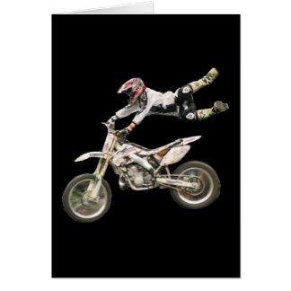 Cartão vert aéreo do vazio #1 do motocross
