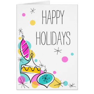 Cartão Vertical de canto do texto dos feriados dos