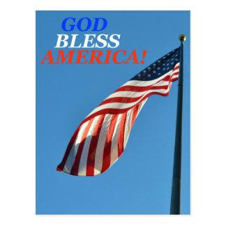 Cartão vertical que descreve a bandeira americana