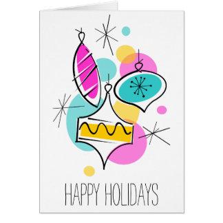 Cartão Vertical retro do texto dos feriados do grupo dos