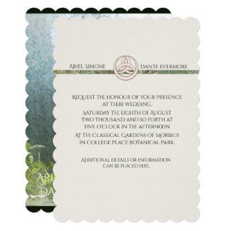 Cartão Vertical selvagem de Triquetra Handfasting do rosa
