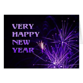Cartão Very happy new year