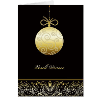 Cartão veselé Vánoce, Feliz Natal em Checo