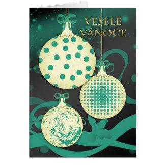 Cartão Veselé Vánoce - Natal checo Ca do Feliz Natal