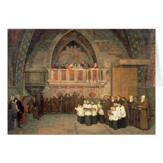 Cartão Vespers na igreja de Francis de santo