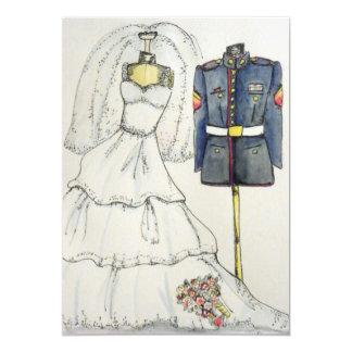 Cartão Vestido recrutado fuzileiro naval do uniforme e de