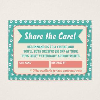 Cartão veterinário da referência - Personalizable