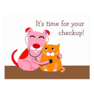 Cartão veterinário do lembrete do controle
