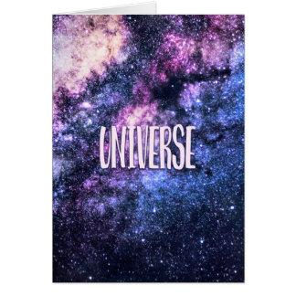 Cartão Via Láctea da foto do universo no céu nocturno