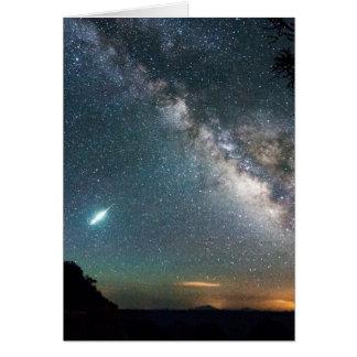 Cartão Via Láctea do Grand Canyon