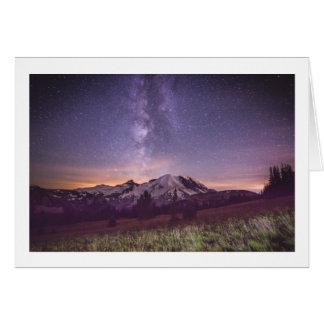 Cartão Via Láctea do Monte Rainier