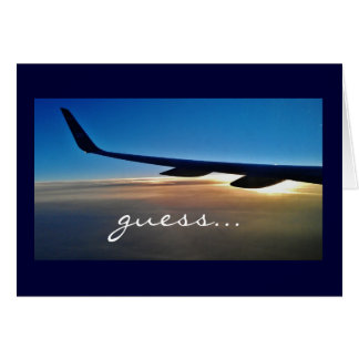 Cartão Viagem da surpresa: Avião e nascer do sol
