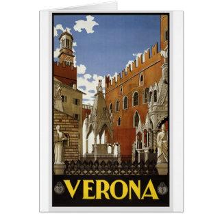 Cartão Viagem de Verona do vintage