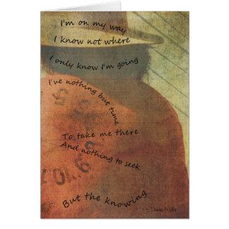 """Cartão Viagem - """"eu estou em minha maneira """""""