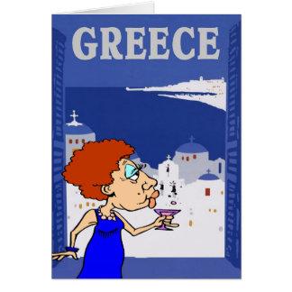 Cartão Viagem grego, mulher