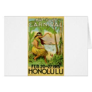 Cartão Viagem havaiano do vintage