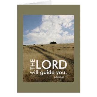 Cartão Viagem inspirador da orientação da fé