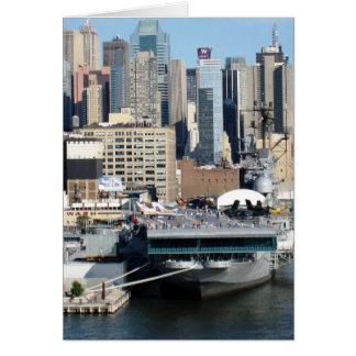 Cartão viagem NYC o Rio Hudson de g/nc Artisanware