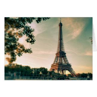 Cartão Viagem romântico da cidade do amor de Paris da