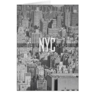Cartão Viagem urbano Notecard da selva da Nova Iorque