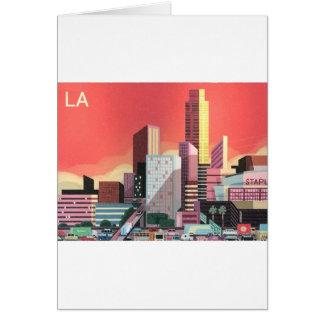 Cartão Viagens vintage de Los Angeles