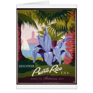 Cartão Viagens vintage Puerto Rico
