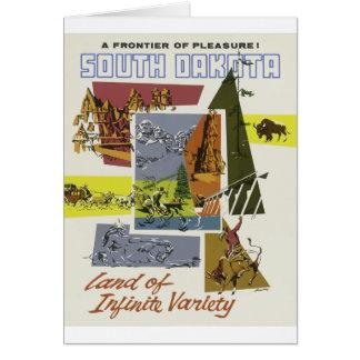 Cartão Viagens vintage South Dakota EUA
