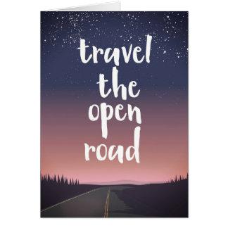 Cartão Viaja a estrada aberta