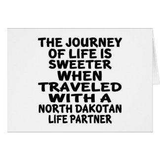 Cartão Viajado com um sócio Dakotan norte da vida