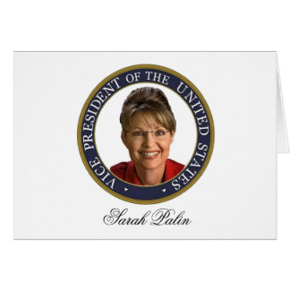 Cartão Vice-presidente Sarah Palin