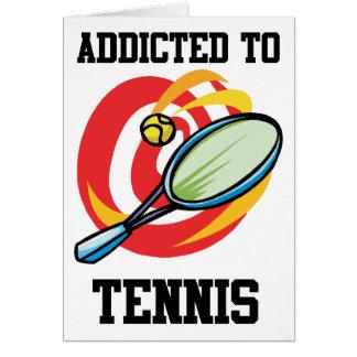 Cartão Viciado ao tênis