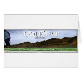 Cartão Vício da viagem do golfe