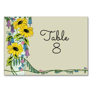 Cartão Victorian floral do vintage da margarida da